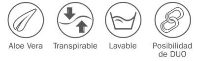Características del Edredón Nórdico Aloe Vera